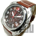 WENGER (Wenger) 77014 AEROGRAPH Cockpit / エアログラフ cockpit chronograph leather belt Brown military watch