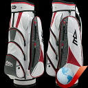 MDGOLF super long II Cart bag-white / red / charcoal fs3gm