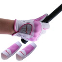 World Eagle Guénon gloves White x pink right hand for finger supporters with!