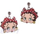 Betty (Betty) ブープ betty boop waterdrop face pattern ベティーブープピアス