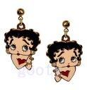 (Betty) Betty Boop betty boop cute upper pattern Betty Boop earrings