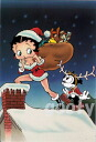 Betty Boop betty boop picture postcards cute postcard SANTA's HELPER Betty Santa