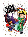Postcard NEW YORK where ベティーブープ betty boop picture postcard is cute, NES YORK New York New York