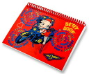 Betty (Betty ) Boop betty boop photo album red bike handle cover photo of a cute 3D fresh 3D PhotoAlbum Betty Boop Moterbike Red album