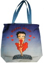 Stylish Betty Boop tote bag large