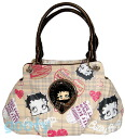 The 合皮製金属 icon that Betty (Betty) ブープ BETTY BOOP checked pattern tote bag is rich