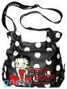 (Betty) Betty Boop BETTY BOOP shoulder bag diagonally over a rich Pochette Bag If skin if skin patch next shearing type black white polka Marilyn