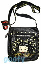 (Betty) Betty Boop BETTY BOOP shoulder bag diagonally over a rich Pochette Bag If skin if skin patch 2way pilot Bag Black Yellow polka big Ribbon