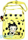 (Betty) Betty Boop BETTY BOOP shoulder bag diagonally over a rich Pochette Bag If skin if skin emblem 2-way pilot bag yellow black polka