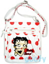 (Betty) Betty Boop BETTY BOOP shoulder bag diagonally over bag Pochette rich with skin if skin patch 2-way pilot bag white water gem pattern.