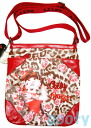 (Betty) Betty Boop BETTY BOOP shoulder bag diagonally over a rich Pochette Bag If skin if skin patch pilot bag animal rose pattern print red