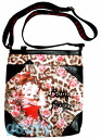 (Betty) Betty Boop BETTY BOOP shoulder bag diagonally over a rich Pochette Bag If skin leather patch pilot bag animal rose pattern print black