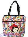 (Betty) Betty Boop BETTY BOOP tote bag ZIP TOP SHOPPER print logo pattern white