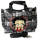 Betty (Betty) Boop BETTY BOOP 2way week-end bag with leather newspaper tote bag in black emblem