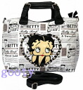 Betty (Betty) Boop BETTY BOOP 2way week-end bag with leather newspaper tote bag in white badge