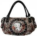 (Betty) Betty Boop BETTY BOOP satchel bag Tote animal print throw KISS ♪ pattern