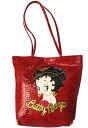 (Betty) Betty Boop BETTY BOOP Tote pale--not with leather Red Lizard pattern type press バイカーベ tea