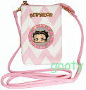 Betty (Betty) Boop BETTY BOOP black mobile case スマホケース Pochette accessories bag shoulder tied with skin cloisonne faces rhinestone