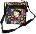 (Betty) Betty Boop BETTY BOOP shoulder bag diagonally over rich Pochette Bag pilot bag case skin if skin patch General enamel your rhinestone embroidery