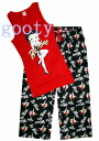 (Betty) Betty Boop betty boop tank top outfit Be Mine! red tank x black bottom room pajamas