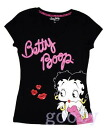 Chibi (Betty) Betty Boop betty boop PITA T T V Neck T shirt throwing KISS ♪ lame dot