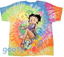 ベティーブープ betty boop irregularity dyeing T-shirt TIE DYE HIPPIE unisex L/XL