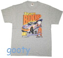 Betty (Betty) ブープ betty boop gray T-shirt TEAM BOOP Betty racer pattern unisex L/XL