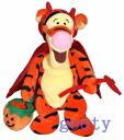 Winnie Pooh's Tigger Winnie the Pooh Tigger Halloween 2000, Tigger Tigger DEVIL beanbag rag Rhea