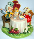 Figure Alice in Wonderland Royal Doulton tea party