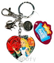 Key ring made by Alice in Wonderland Alice in wonderland Shippo metal