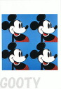 Andy Warhol & disney collaboration card blue /4-limited! Greeting card