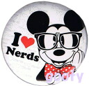 Mickey Mouse can batch Mickey glasses I Love Nerds (nerd) loungefly lounge fly
