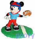 Mickey mouse PVCMickey Mouse American football (rugby) PVC 90s dead stock rubber doll