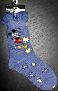 Mickey Mouse on frills for kids crew socks blue flower & Mickey 15-20 cm