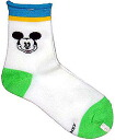 Mickey Mouse children's crew socks light green × blue 15-20 cm