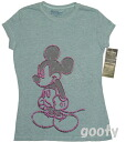 Mickey Mouse short-sleeved T shirt (PITA T ) damage processing vintage style gray