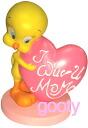 Tweety TWEETY マザーズディ (mother's day) PVC figure figurine heart
