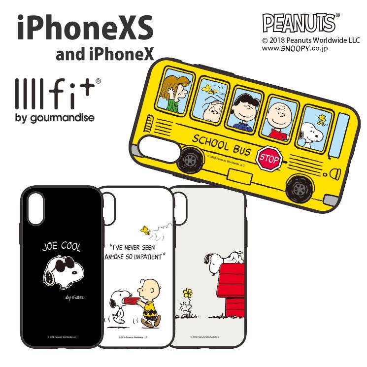 ピーナッツ iPhoneXS/X対応IIIIfitケース