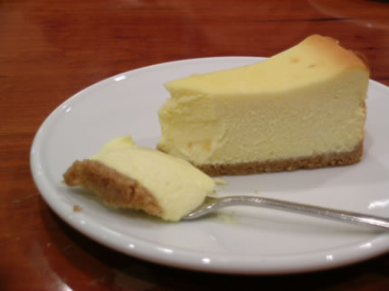 極上珈琲にとってもよく合うニューヨークチーズケーキ