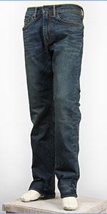 リーバイス 505 フィット レギュラーストレート サーモライト ストレッチデニム ダークユーズド Levi's Warm Jeans 00505-1426