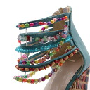 [After the arrival in the reviews mentioned Accessories 1 point presents (choose)] foreign Princess wage sort beads decorated Sandals mules wedding parties celebrity party shoes new [chxa21]