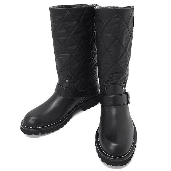 シャネル ブーツ エンジニアブーツ マトラッセ サイズ37 G26590 CHANEL 靴 メンズ レディース