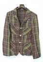 Days Day Craft (craft days and day) MADRAS CHECK LINEN 3B JACKET KHAKI S Madras check linen jacket days & deicraft P19May15