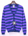 SWAGGER (スワッガー) BORDER KNIT CARDIGAN horizontal stripe knit cardigan M BLUE 13SS SWGKNT-013     05P13Dec13