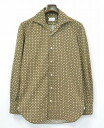 Errico Formicola (Jericho formicola) open collar shirt S BROWN