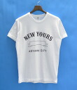 Mr.GENTLEMAN (Mr. gentleman) NEW YOURS COLLEGE TEE WHITE S short sleeve T shirt