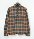 PHENOMENON (phenomenon) FLANNEL SHIRT BROWN L flannel shirt