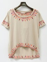 SASS&BIDE (サスアンドバイド) embroidery wide T-shirt S IVORY