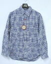 SPLOTCH of ink (ink splotch) Embroidery Gingham Check Shirts embroidered gingham check long sleeve shirt Navy