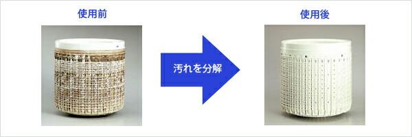 洗濯槽クリーナーの使用前、使用後